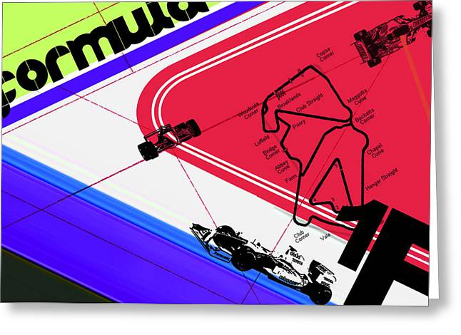 Circuit Greeting Cards - F1 Greeting Card by Naxart Studio