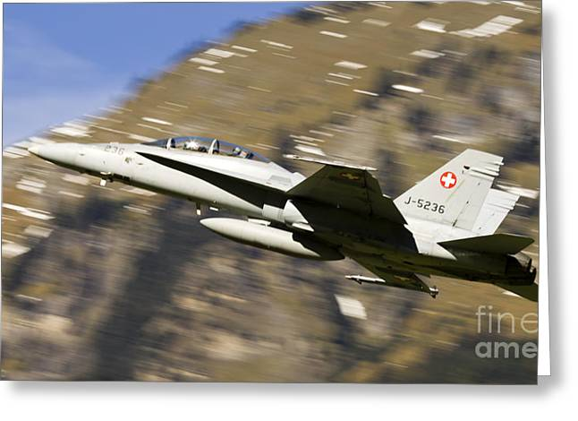 Himmel Greeting Cards - F18 Hornet Greeting Card by Angel  Tarantella