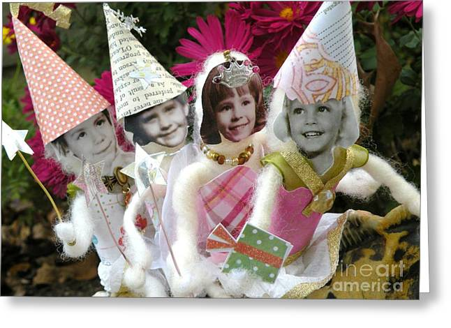 Faries Greeting Cards - Fab Fairies Greeting Card by Christine Belt