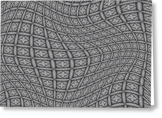 Abstract Art Digital Art Greeting Cards - Fabric Design 19 Greeting Card by Karen Musick