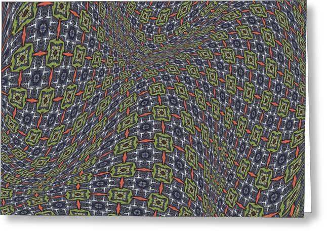 Abstract Art Digital Art Greeting Cards - Fabric Design 20 Greeting Card by Karen Musick