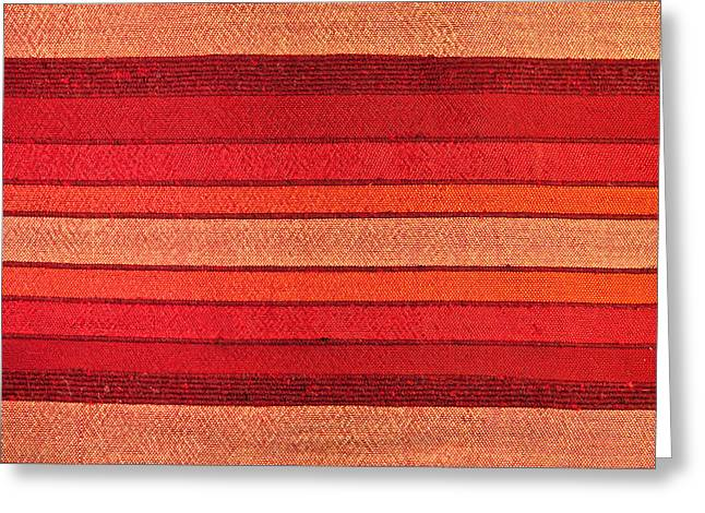 African Cloth Greeting Cards - Fabric Greeting Card by Tom Gowanlock