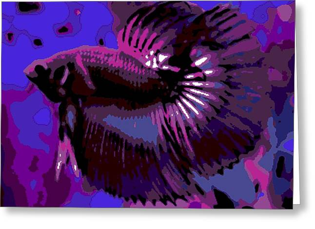 Betta Greeting Cards - Fabulous Fins Greeting Card by George Pedro