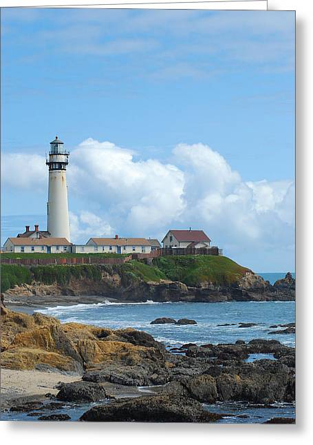 Pigeon Point Light Station Greeting Cards - Fabulous Pigeon Point Greeting Card by Wanda Jesfield