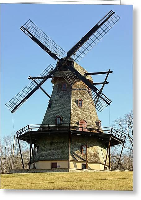 Fox River Mills Greeting Cards - Fabyan Windmill Greeting Card by Jenny Hudson