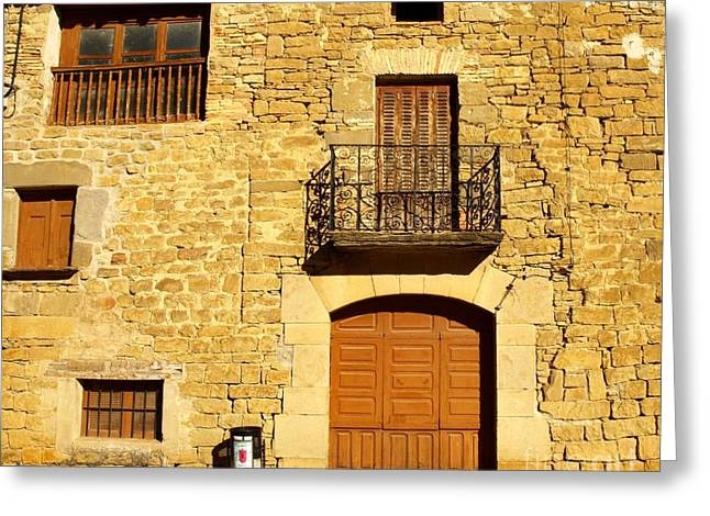 Dwell Greeting Cards - Facade Greeting Card by Alfredo Rodriguez