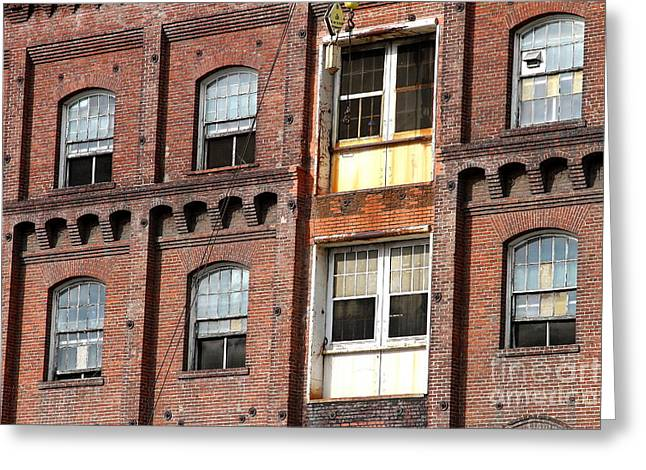 Manufacturing Greeting Cards - Facade At The Old California and Hawaii Pure Cane Sugar Company in Crockett California Greeting Card by Wingsdomain Art and Photography