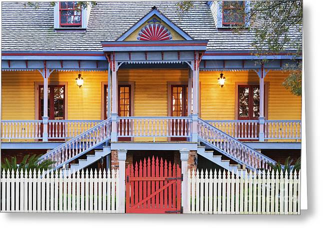 Facade of Plantation Slave Quarters Greeting Card by Jeremy Woodhouse