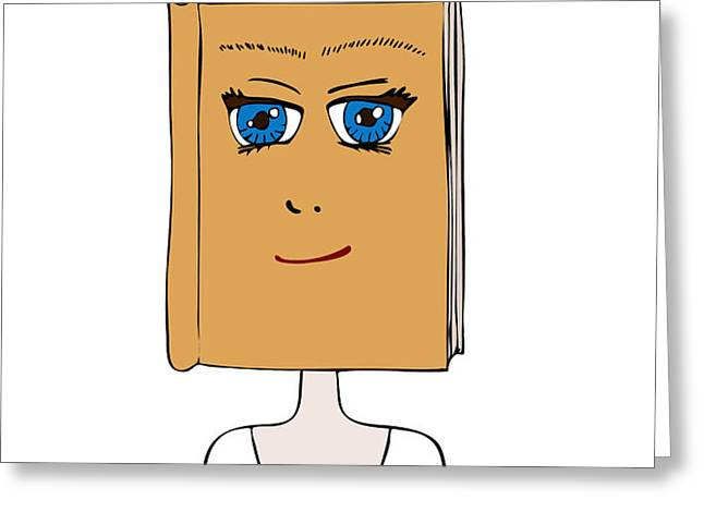 Face Book Greeting Card by Frank Tschakert