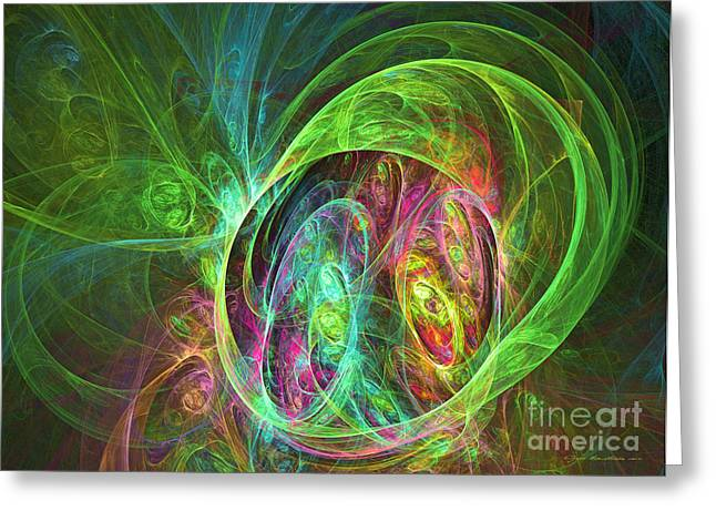 Interior Still Life Mixed Media Greeting Cards - Face of energy - abstract art Greeting Card by Abstract art prints by Sipo