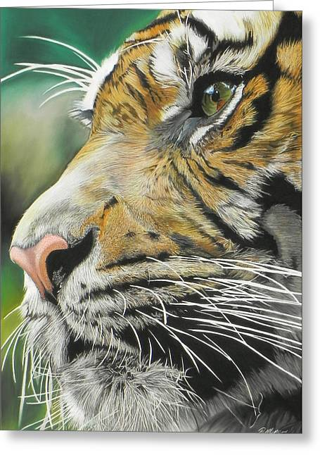 Hunter Pastels Greeting Cards - Face of the Hunter Greeting Card by Paul Miners