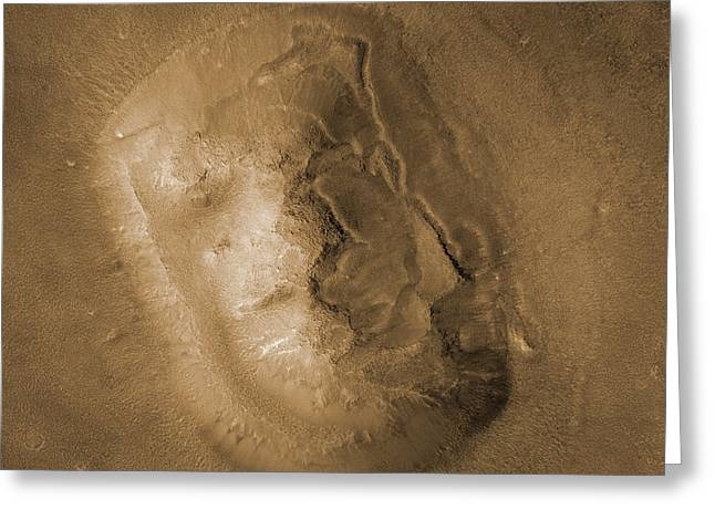 Moc Greeting Cards - Face On Mars Greeting Card by NASA / Science Source