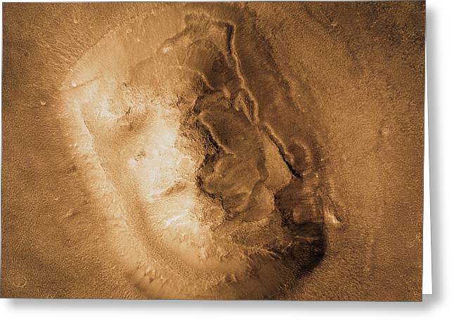 Planet Mars Greeting Cards - Face On Mars Greeting Card by Nasa