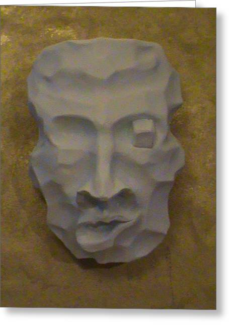 Sex Reliefs Greeting Cards - Face on the mask  Greeting Card by Almark