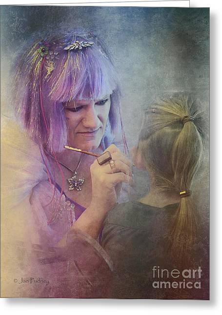 Fairy Painter Greeting Cards - Face painter Greeting Card by Jan Pudney
