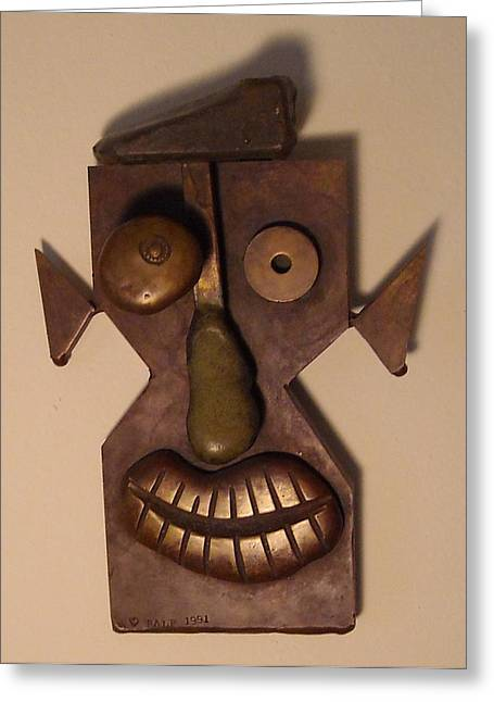 Valuable Sculptures Greeting Cards - Face Greeting Card by Ralf Schulze