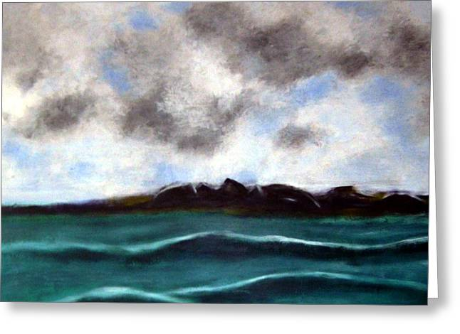 Seacape Paintings Greeting Cards - Face to the sky Greeting Card by Joseph Ferguson