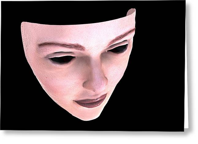 Donates Greeting Cards - Face Transplant Greeting Card by Christian Darkin