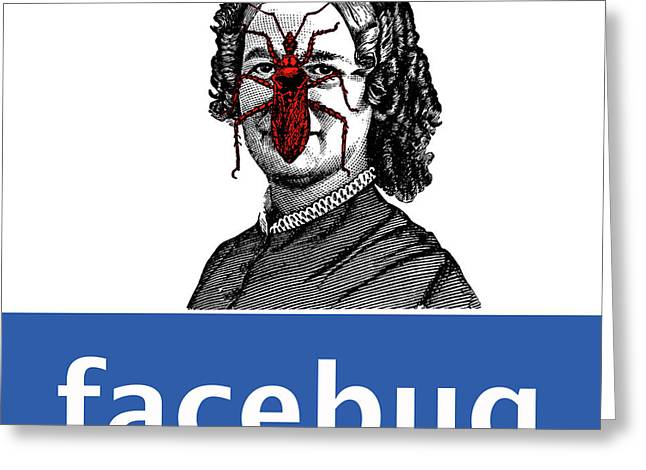 Facebug for Women Greeting Card by Eric Edelman
