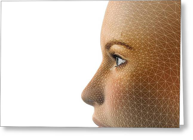 Facemapping, Artwork Greeting Card by Claus Lunau