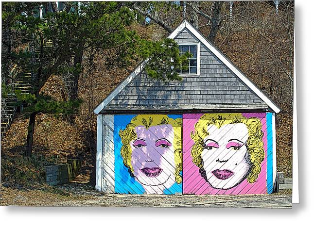 Marlyn Greeting Cards - Faces Greeting Card by Frank Winters