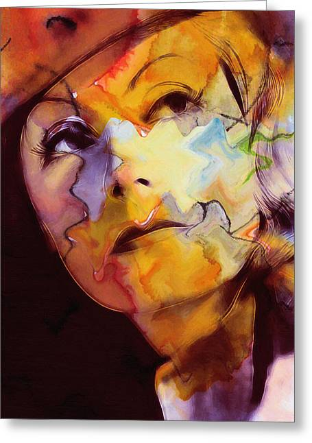Classic Hollywood Paintings Greeting Cards - Facets of Beauty Greeting Card by Stefan Kuhn