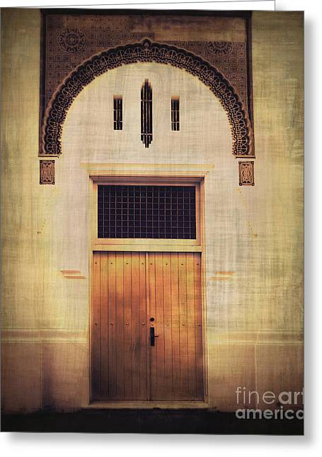 Old San Juan Greeting Cards - Faded Doorway Greeting Card by Perry Webster
