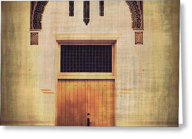 Faded Doorway Greeting Card by Perry Webster