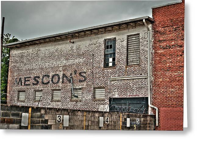 Faded Facade Greeting Card by Andrew Crispi