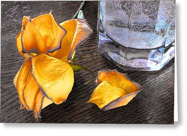 Flovers Greeting Cards - Faded Rose Greeting Card by Vladimir Kholostykh