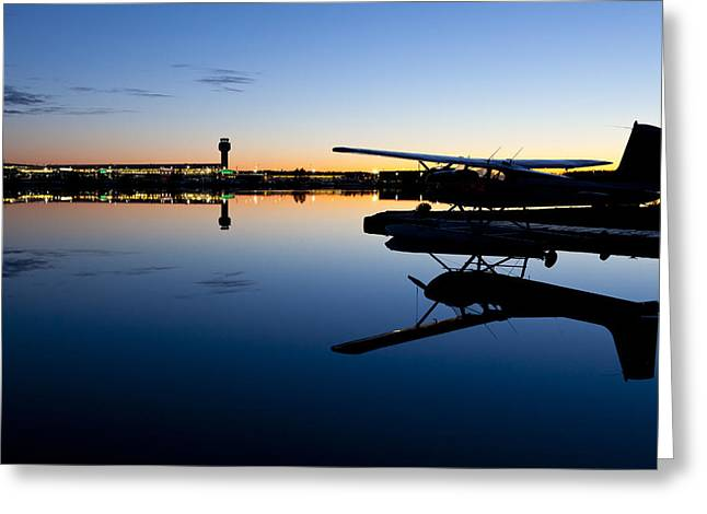Traffic Control Greeting Cards - Fading Light on Lake Hood Greeting Card by Tim Grams