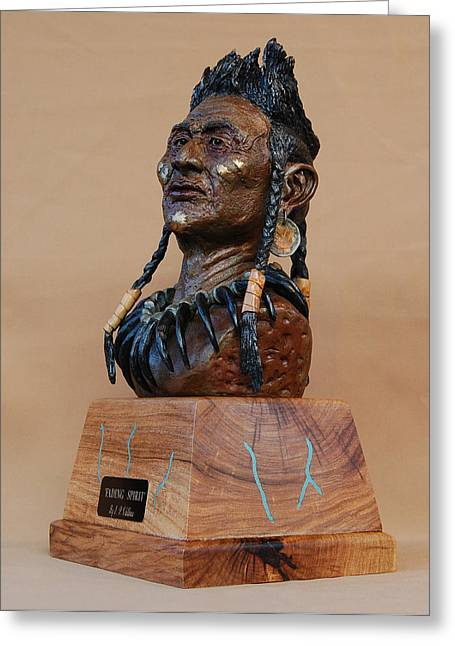Spirit Sculptures Greeting Cards - Fading Spirit Greeting Card by J P Childress