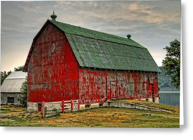 Wooden Building Greeting Cards - Fading Greeting Card by Tim Wilson