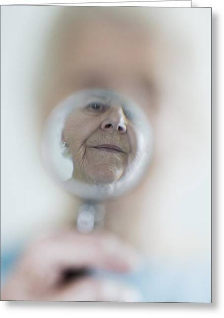 Elderly Female Greeting Cards - Failing Eyesight, Conceptual Image Greeting Card by Cristina Pedrazzini