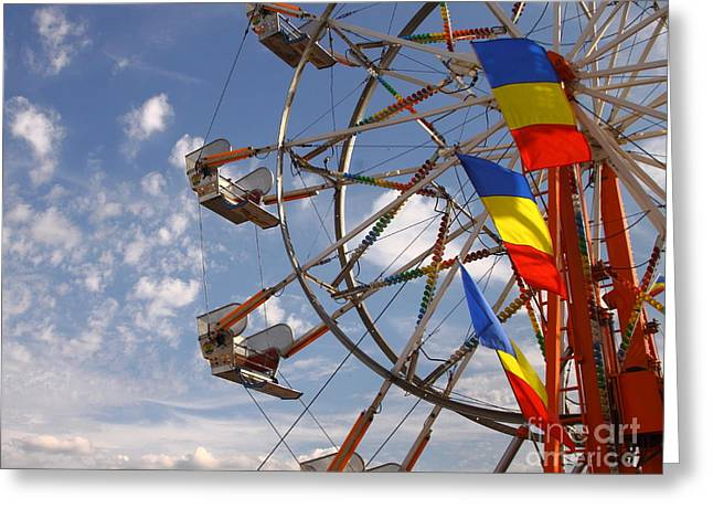 Kiddie Rides Greeting Cards - Fair Day Greeting Card by Robert Frederick