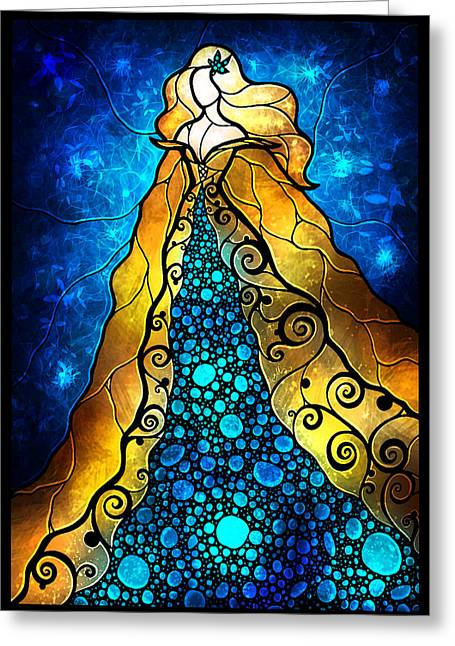 Girl In Water Greeting Cards - Fair Ophelia Greeting Card by Mandie Manzano