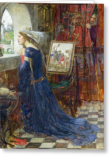Queen Greeting Cards - Fair Rosamund Greeting Card by John William Waterhouse