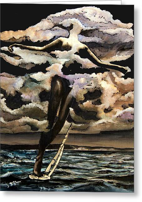 Boats In Water Mixed Media Greeting Cards - Fair Stood the Wind Greeting Card by Indigo Jax