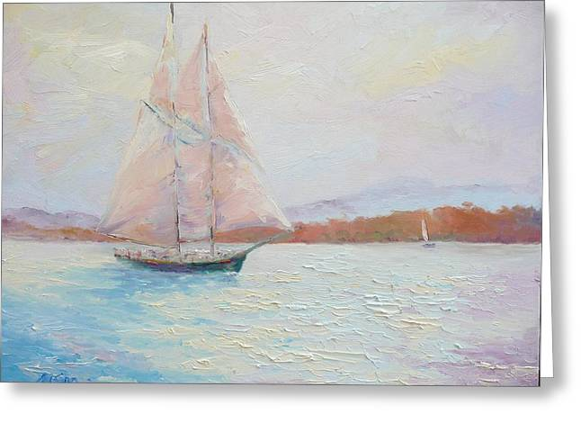 Fair Winds Greeting Card by Marie Green