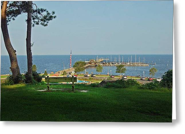 Crimson Tide Greeting Cards - Fairhope Pier 2012 Greeting Card by Michael Thomas