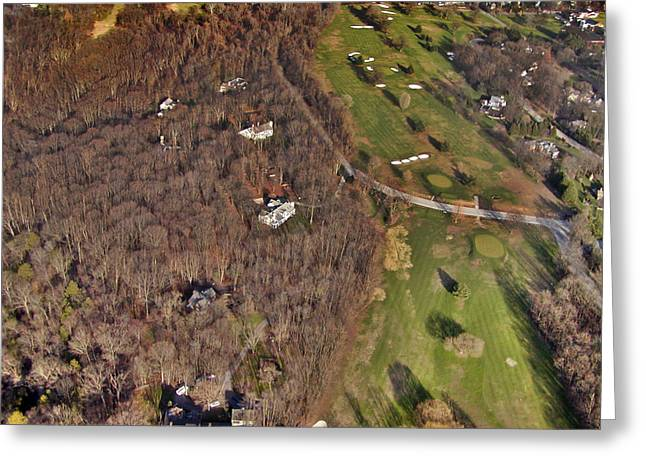 Cricket Aerial Greeting Cards - Fairmount and St. Martins Chestnut Hill Greeting Card by Duncan Pearson