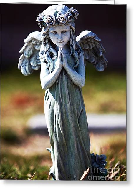 Headstones Greeting Cards - Fairy Greeting Card by John Rizzuto