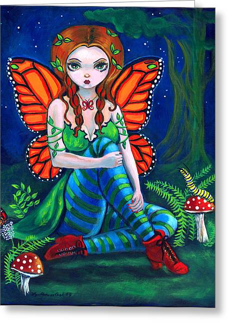 Fantasy Greeting Cards - Fairy Monarch Greeting Card by Lyn Cook