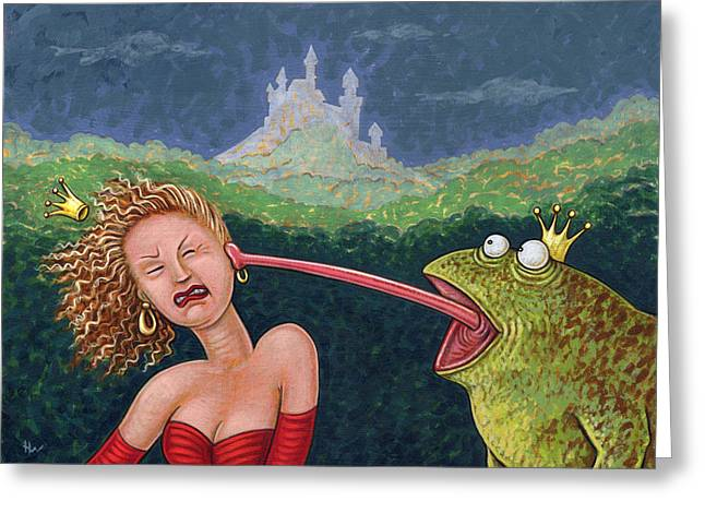 Egos Greeting Cards - Fairy Tales the Frog Prince Greeting Card by Holly Wood