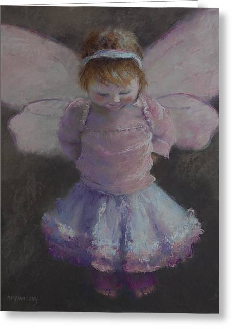 Imagination Pastels Greeting Cards - Fairy Wings Greeting Card by MaryAnn Cleary