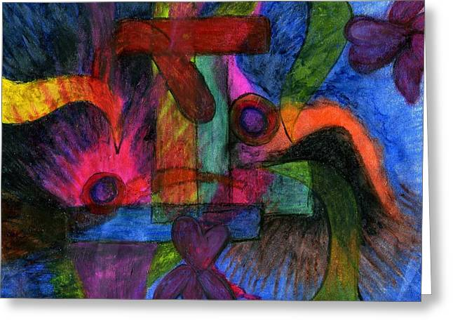 Faith Pastels Greeting Cards - Faith Explosions Greeting Card by Cassandra Donnelly
