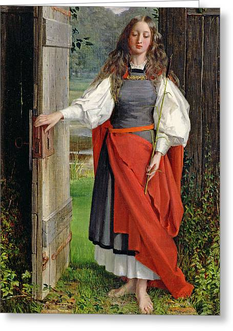 Maiden Greeting Cards - Faith Greeting Card by George Dunlop Leslie
