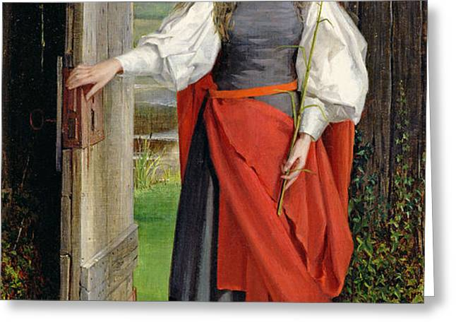 Faith Greeting Card by George Dunlop Leslie