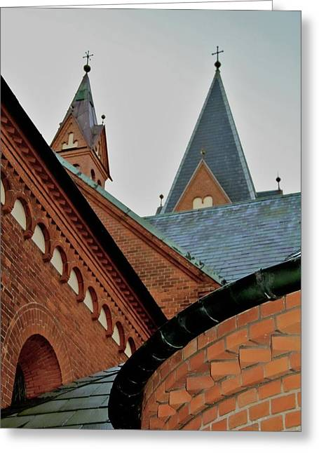 Two Towers Greeting Cards - Faith In Geometry Greeting Card by Odd Jeppesen