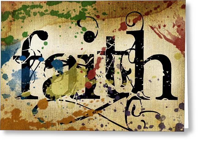 Faith Greeting Card by Lauren Goia